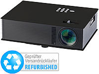 SceneLights LED-Beamer mit Mediaplayer LB-8001.mp, USB & HDMI (Versandrückläufer)